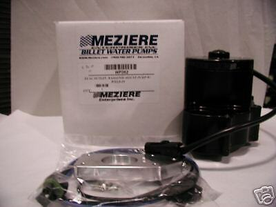 Meziere Radiator Mount 55GPM Electric Water Pump WP362 Dual Outlet