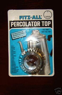 """REPLACEMENT PERCOLATOR GLASS TOPS  FITZ-ALL  1 1/2"""" - 2 1/2"""" Clear, Model 246"""
