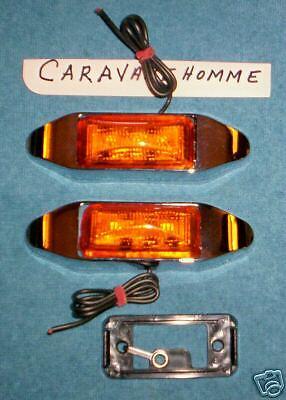 ONE DOT Mini Thin AMBER Trailer LED Marker Clearance Light DOT OPTRONICS 3  LEDS