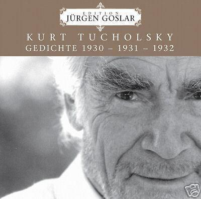 Jürgen Goslar Edition: Kurt Tucholsky 1930-32 (cd)