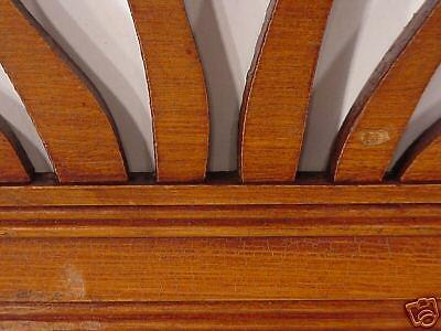 Jugenstil  Arts & Crafts Hand Carved Wood Crown Topper Mantel Molding Antiques 7