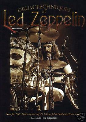 LED Zeppelin John Bonham Drum Techniques Book New
